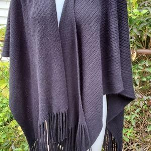 Huge black fringe shawl